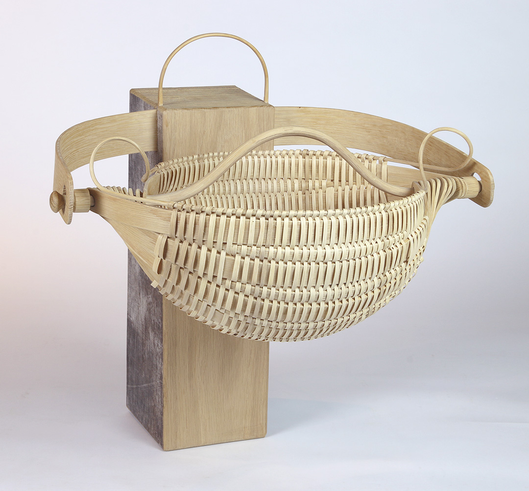 Nautilus - white oak basket